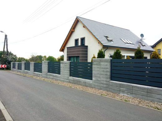 ogrodzenie aluminiowe AG150 ALUgate BORDER